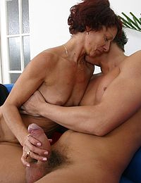 Pretty old woman is happy to play with a big cock